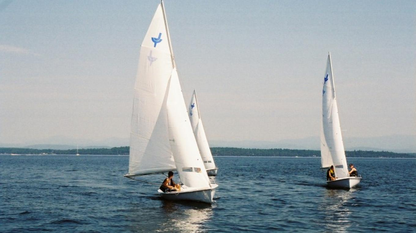 Lake Champlain offers some of the best sailing in the Northeast and guests of Normandie have all levels of boats available to them with staff at the ready for instruction or just help getting rigged. – Waldemar Kasriels