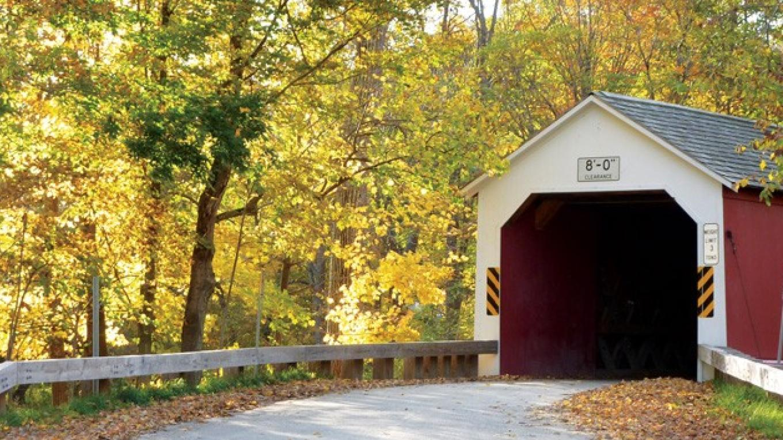 Eagleville Bridge in Fall – Sara Kelly