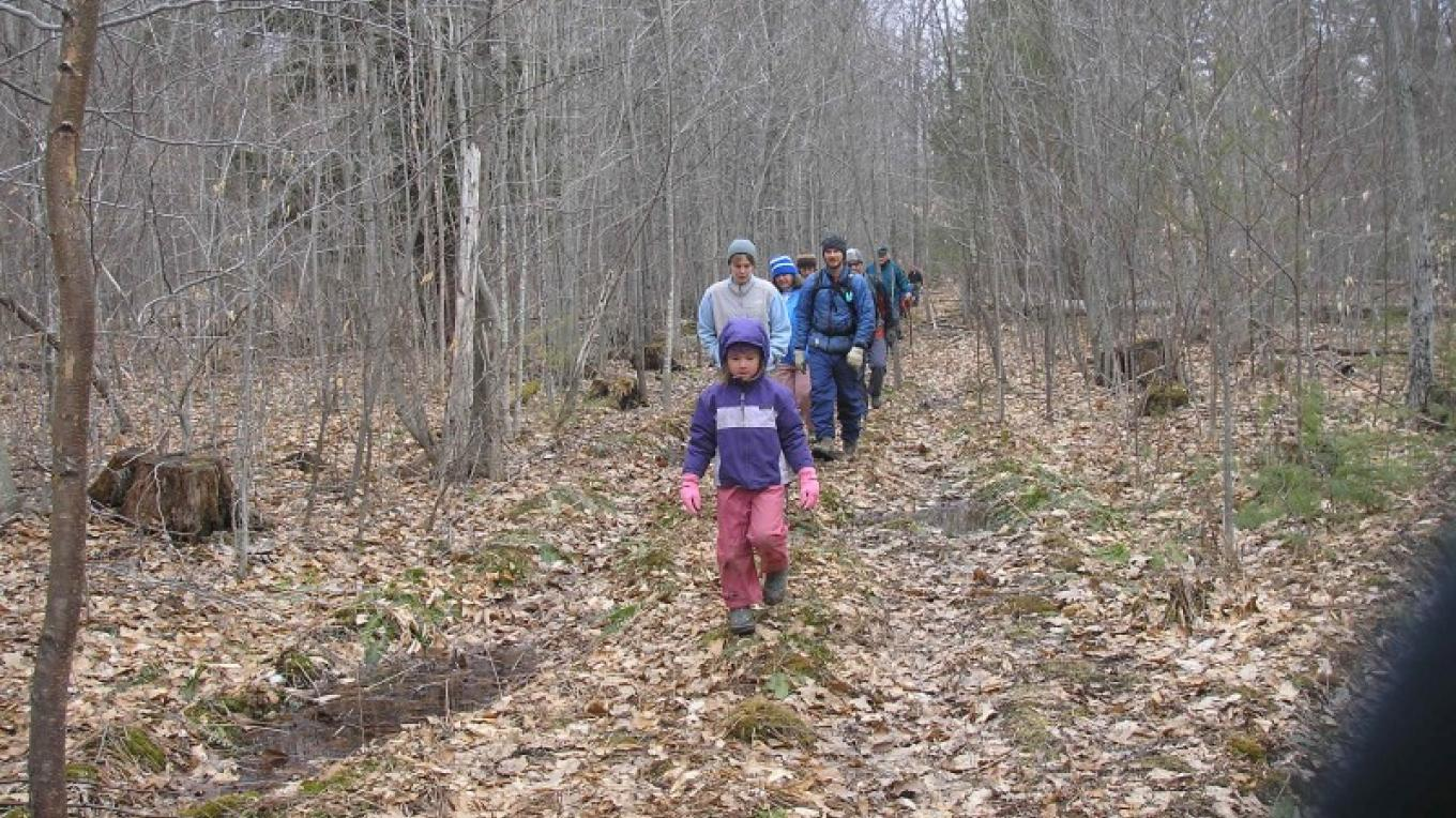 The Homestead Trail is a nice wide trek up and down, connecting many other trails in the CATS network – Chris Maron