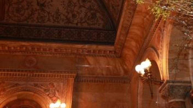 Interior ceiling of Earl Chapel – Eileen Haldeman