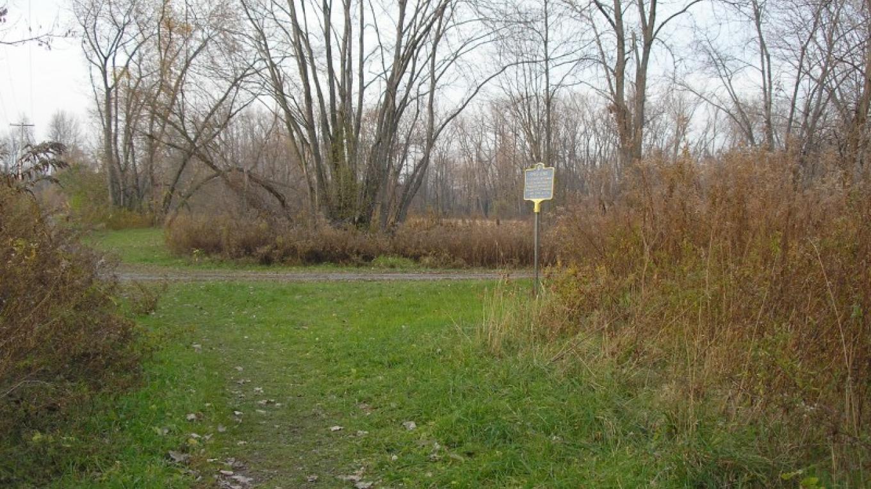 November in the Preserve. Fort's Ferry historical marker. – Myla Kramer
