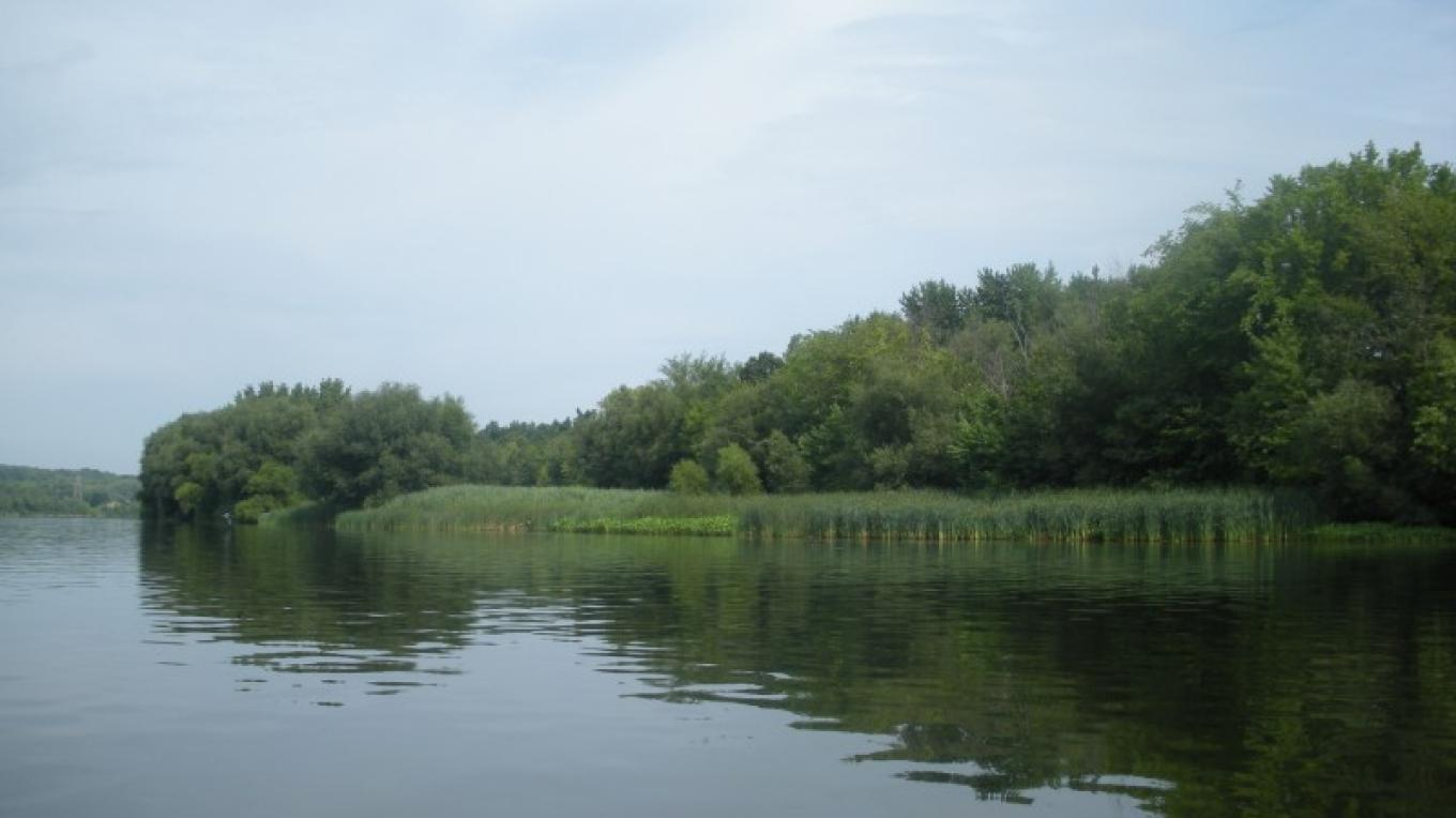 View of the preserve from Mohawk River – Myla Kramer