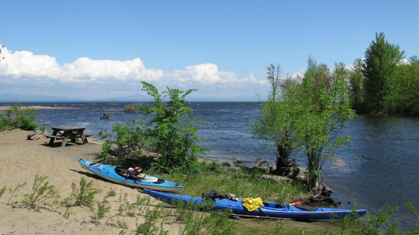 At the mouth of the Ausable River. – Courtesy of Cathy Frank