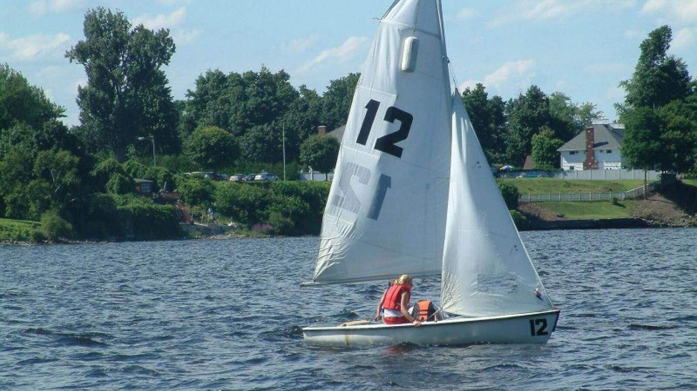 Sailing near the mouth of the Saranac River. – City of Plattsburgh