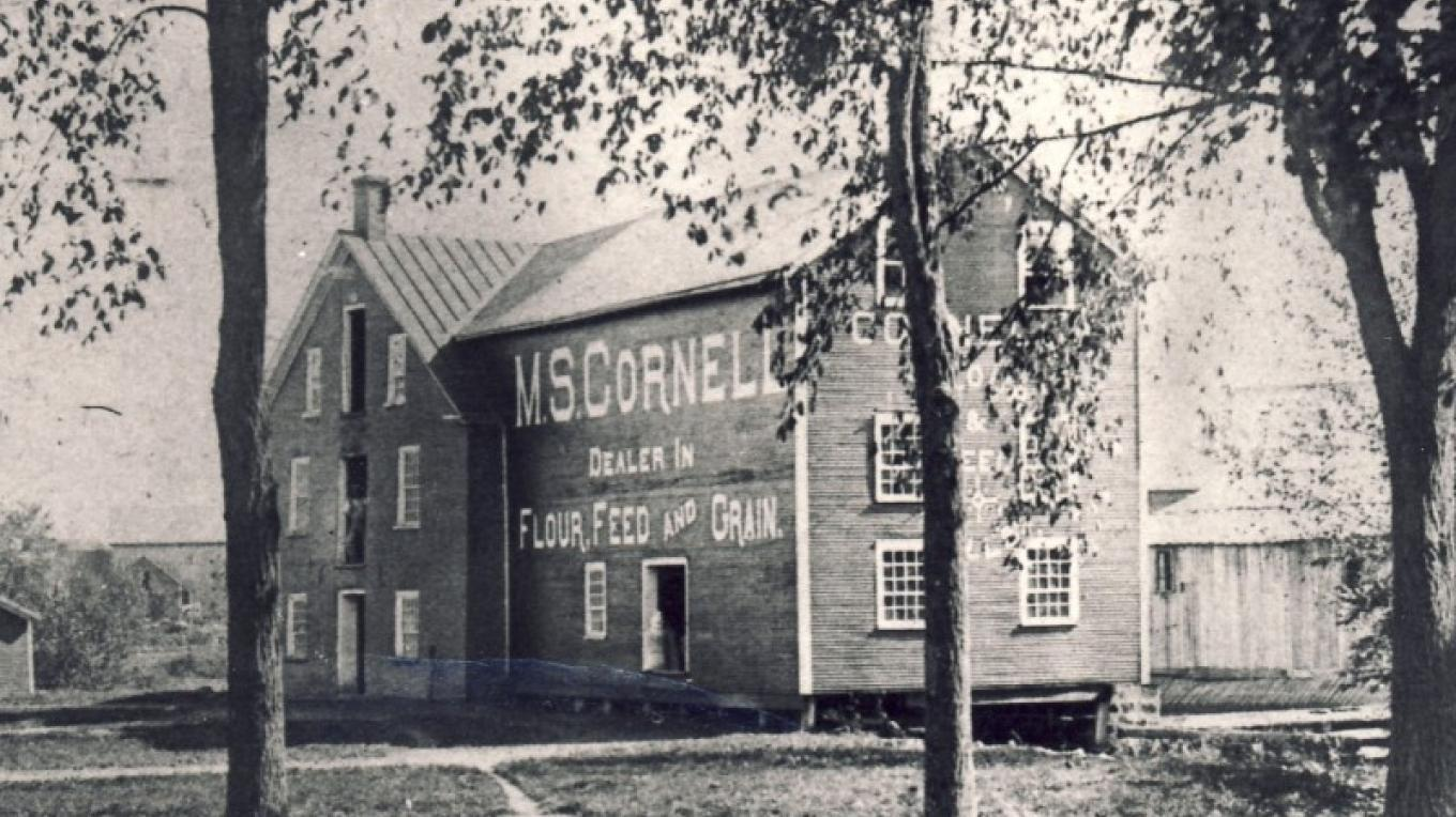 The Cornell Mill c. 1900 now houses the main collection of the Missisquoi Museum – Missisquoi Historical Society collections