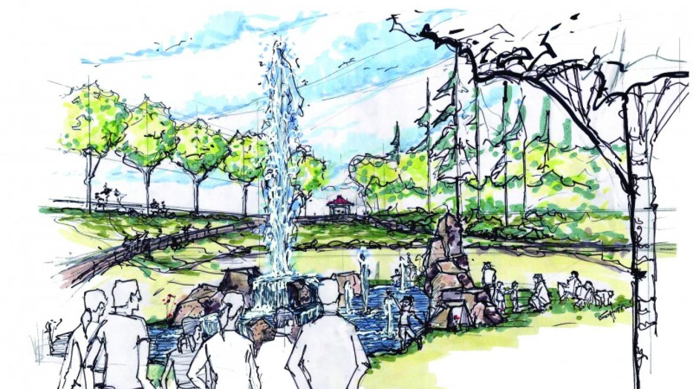 A possible feature in the new environmental park - a play fountain for children – Elan Associates