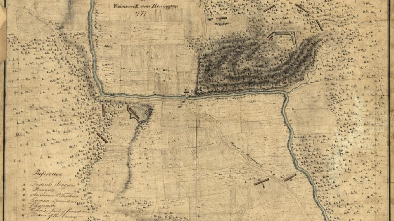 Durnsford's map is oriented with north to the right. – Library of Congress