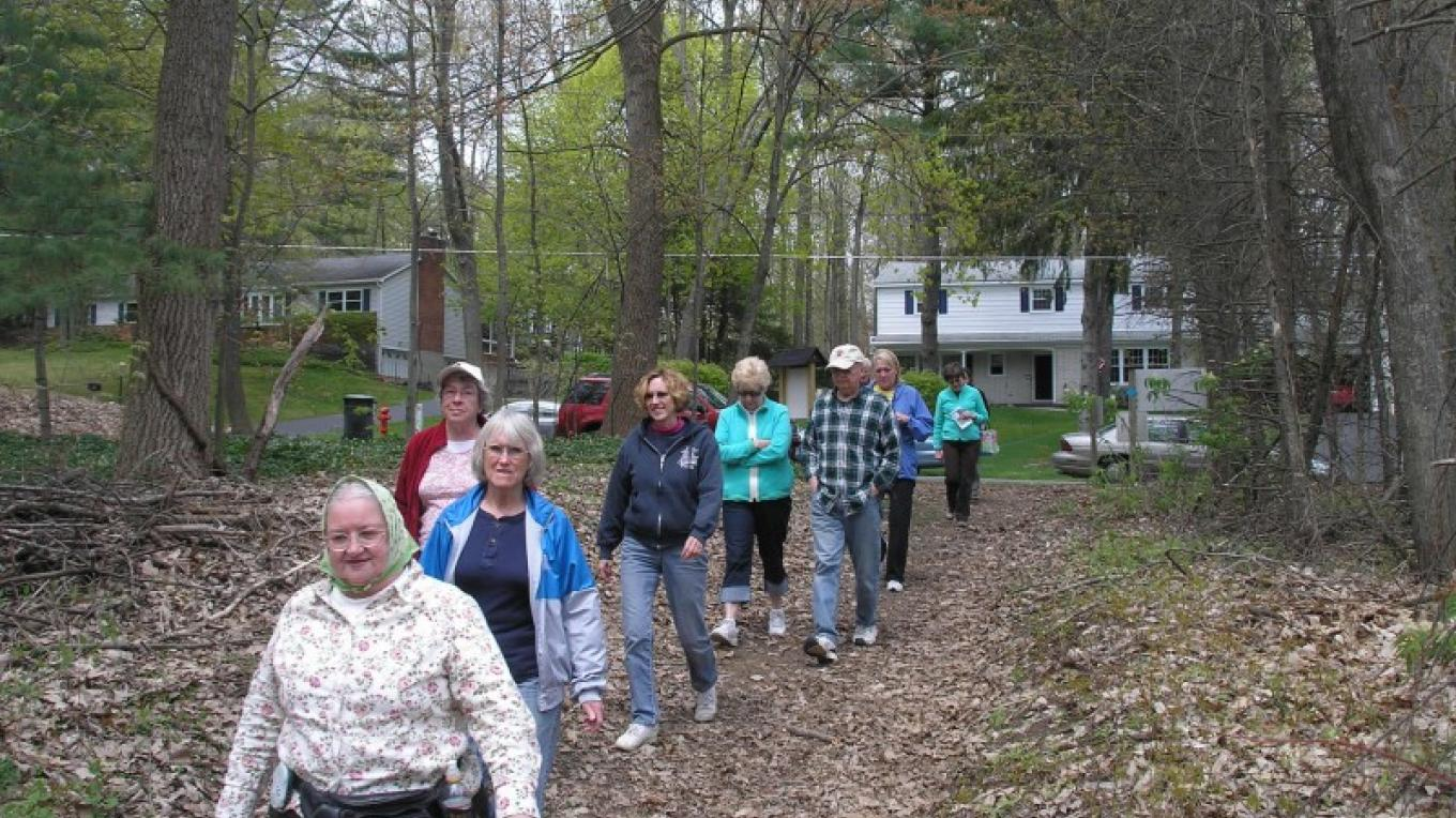 Stewardship walk in May 2011 at North Woods Nature Preserve – Jennifer Viggiani