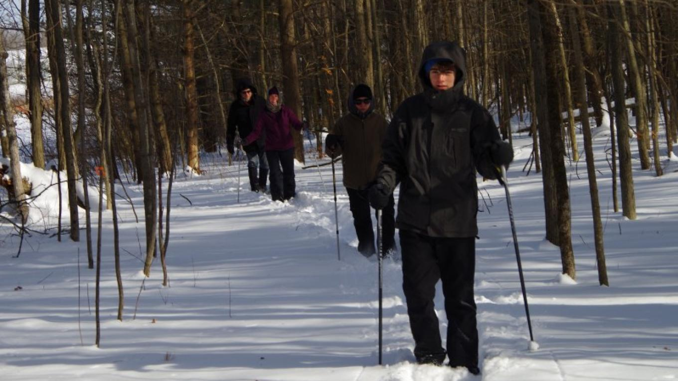 The Ancient Oaks Trail is beautiful any time of year, perfect for cross-country skiing! – Chris Maron