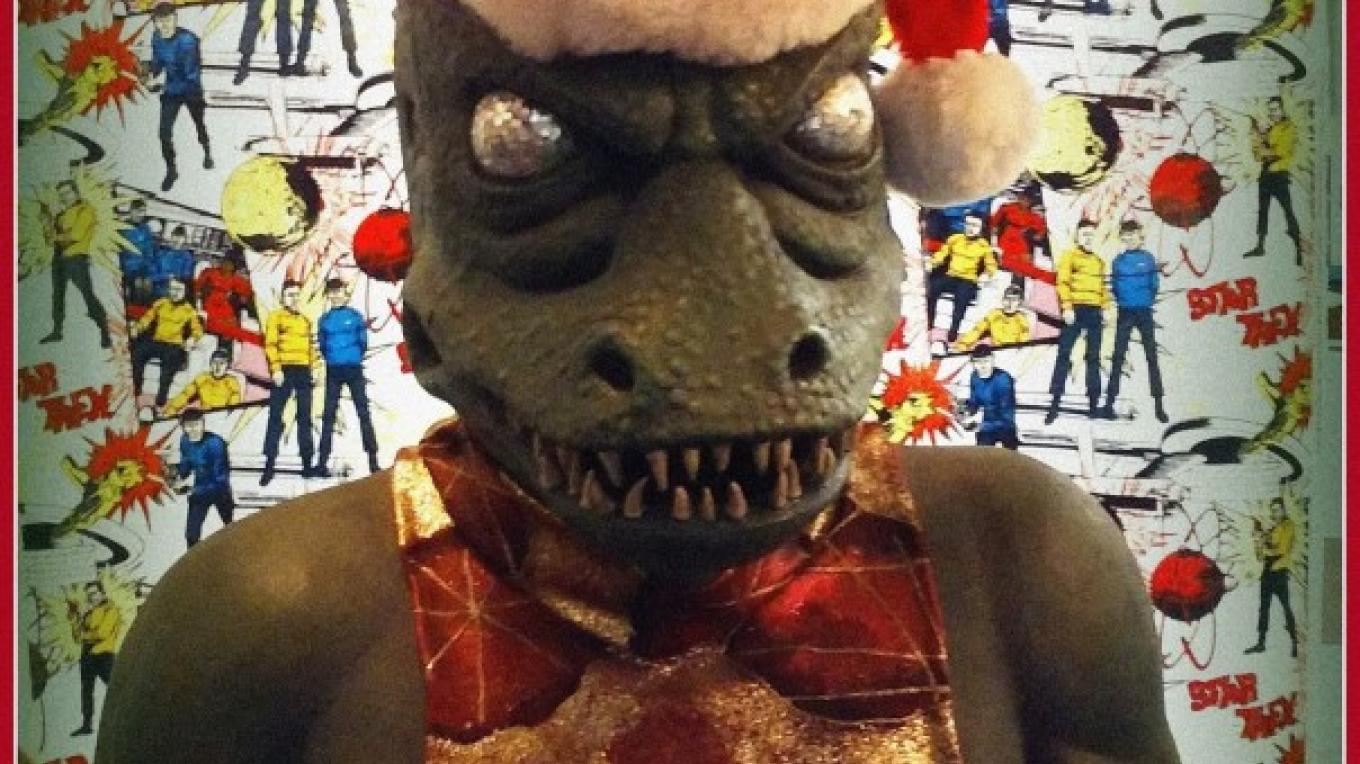 The Gorn at Chistmas season. – Courtesy of and copyright by Star Trek Original Series set Tour and CBS.