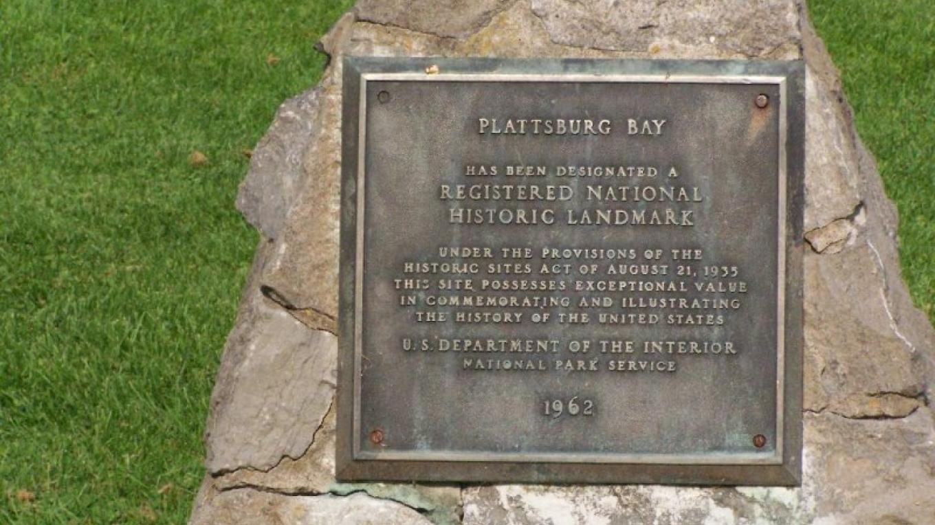 Historic marker commemorating the Battle of Plattsburgh. – Courtesy of Andy Arthur