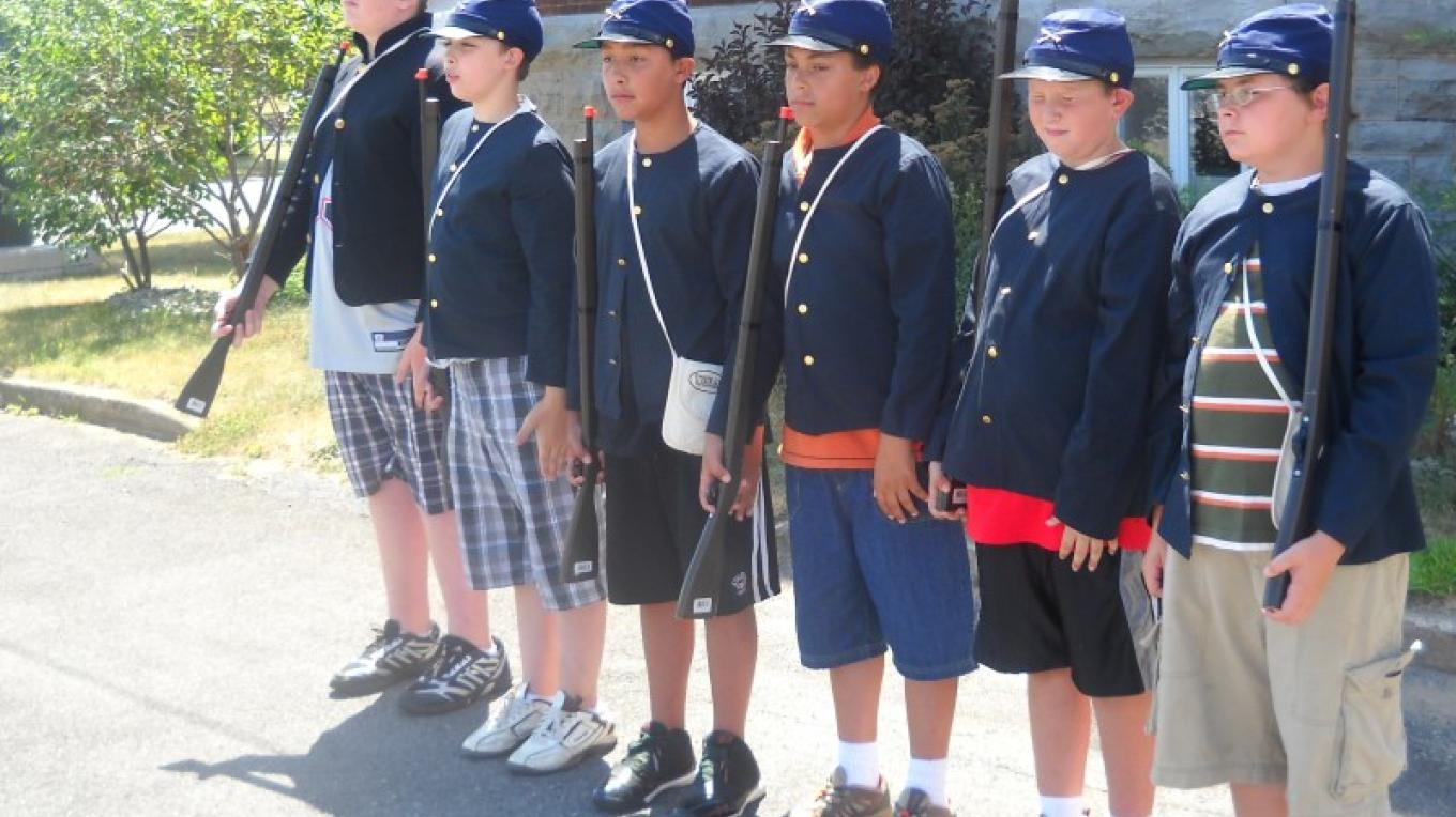 Participants in CCHA's Civil War Youth Camp spend a week during the summer delving into the lives of Civil War soldiers.