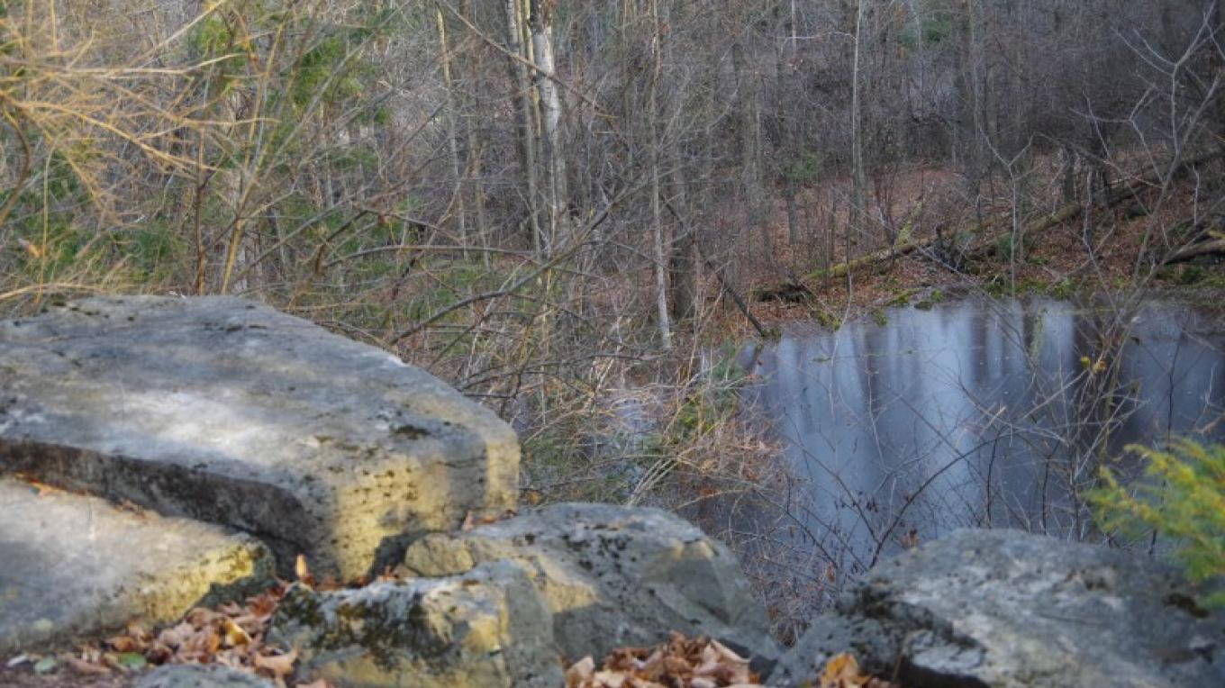 Magnificent rock outcropping abound on the Hidden Quarry Trail. – Chris Maron