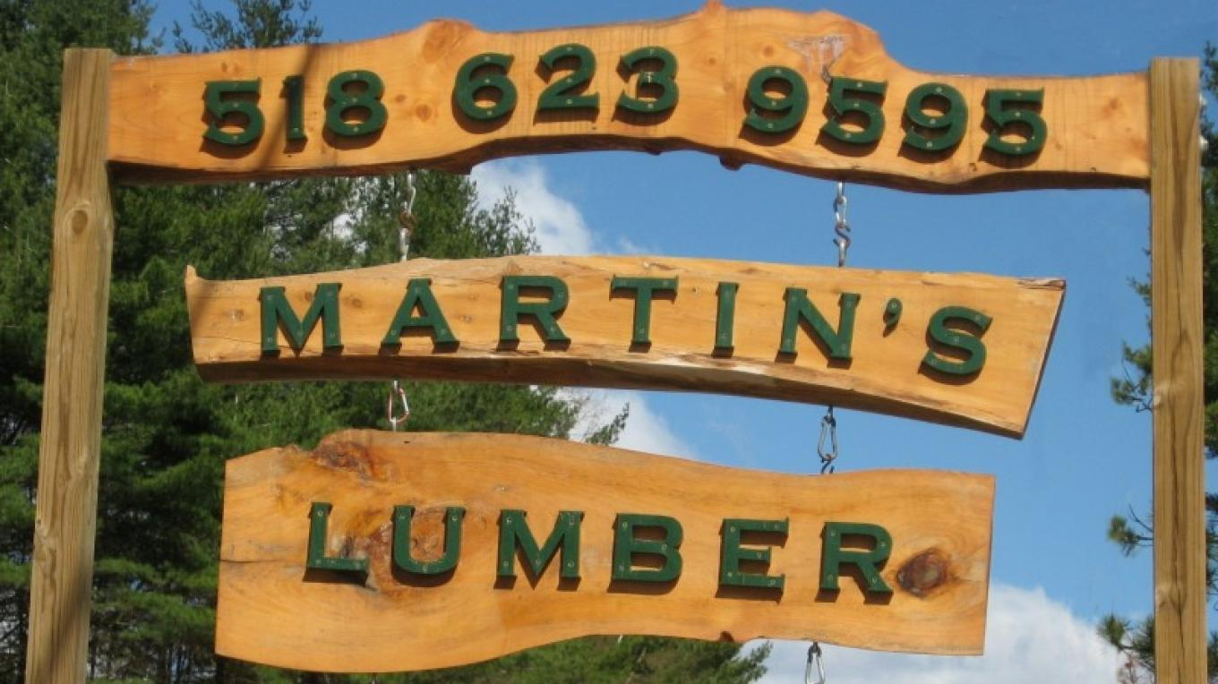 "Martin"" Lumber, sign made by Martin's Lumber – Winefred Martin"