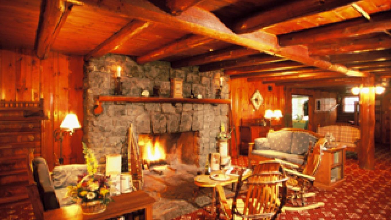 Fireplace in Lodge – Garnet Hill Lodge
