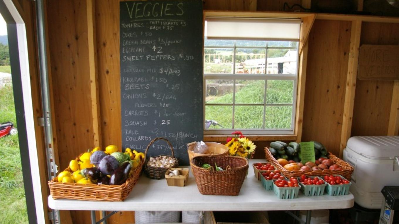 Farm store produce available year round from Reber Rock and other farms in the area – Racey Bingham