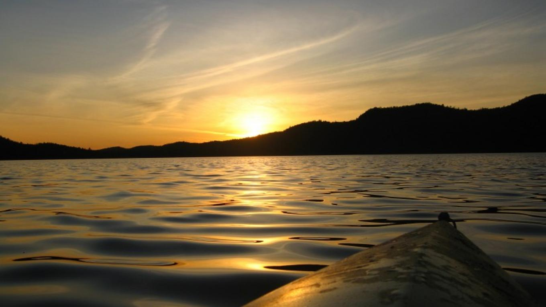Sunset on Big Moose Lake – David Webb
