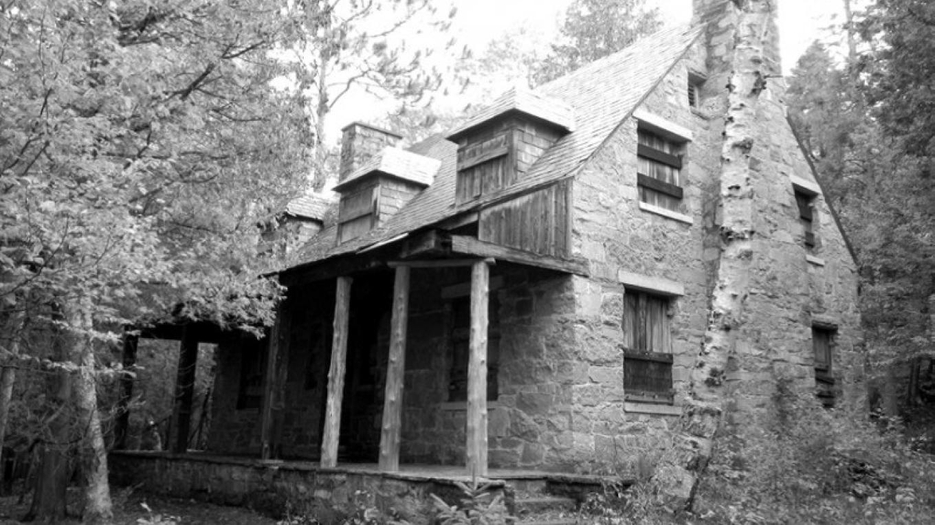 The Seton Stone House is one of only two remaining buildings on the island. – Clinton County Historical Society