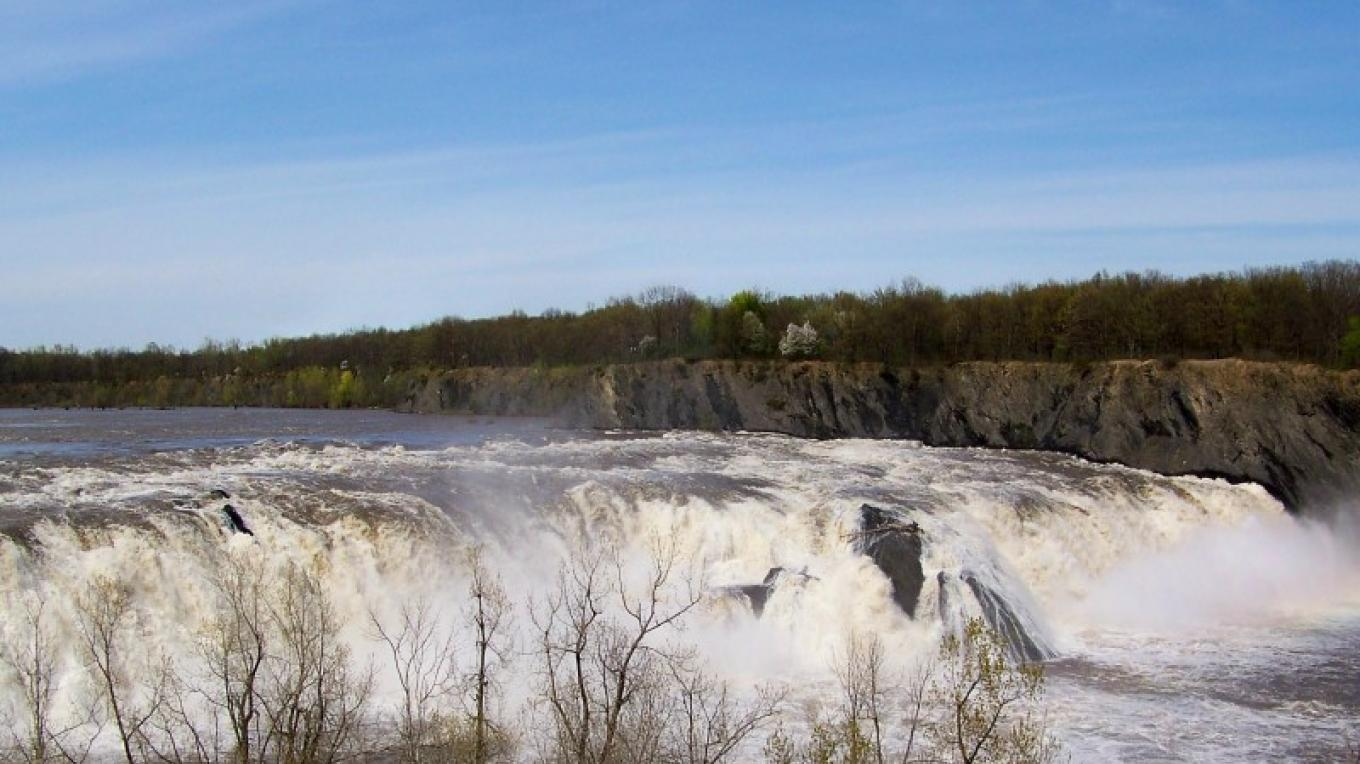 The Mohawk River drops 90 feet over the Cohoes Falls before joining the Hudson River. – Eric Hamilton