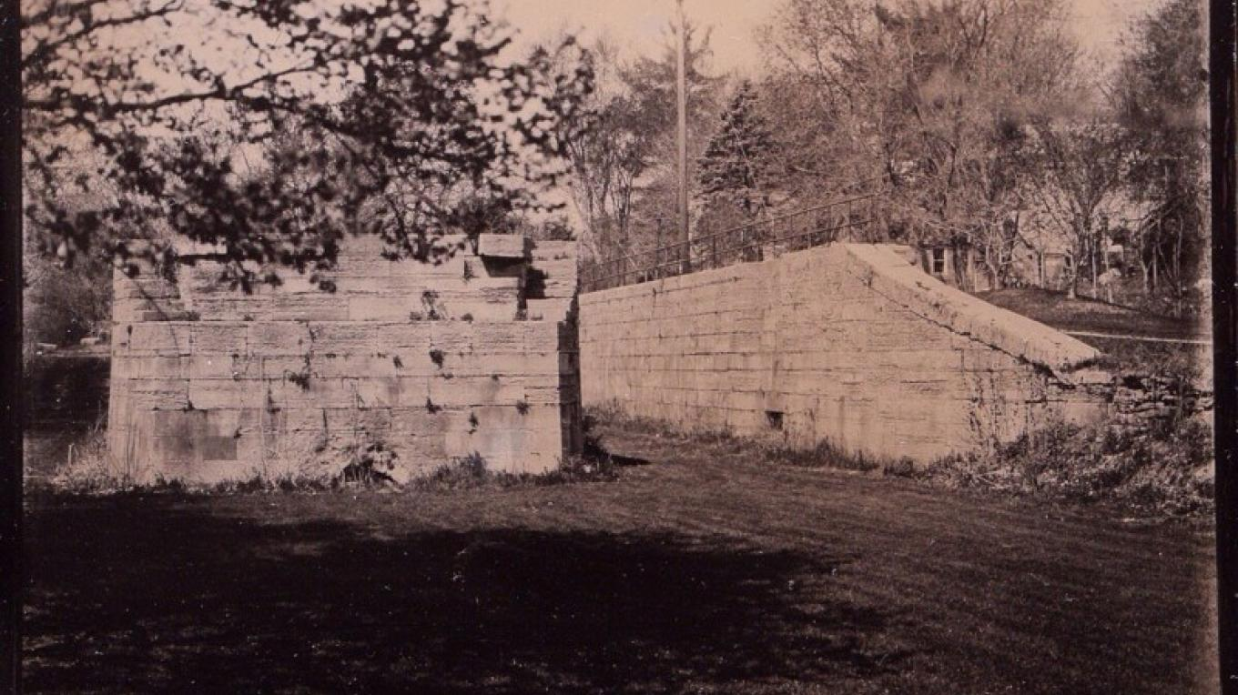 Glens Falls Art Tintype of Enlarged Cohoes NY Erie Canal lock – Craig Murphy Photographer - Glens Falls Art