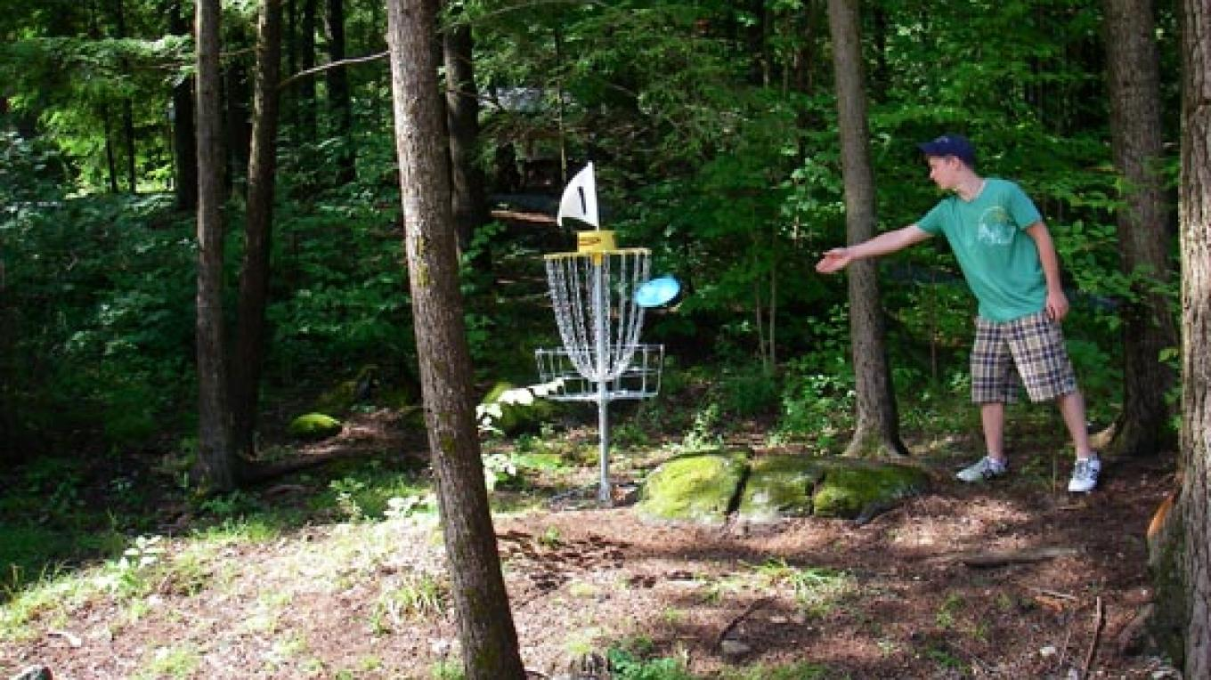 Activities.  Try our par 3 Disc Golf Course that goes through our meadow and woods. – Greg Beckler