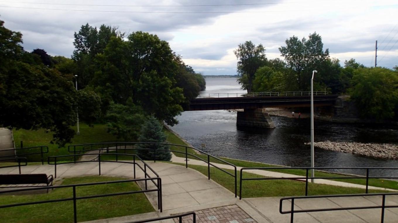 Saranac entering Lake Champlain. – Courtesy of Cathy Frank