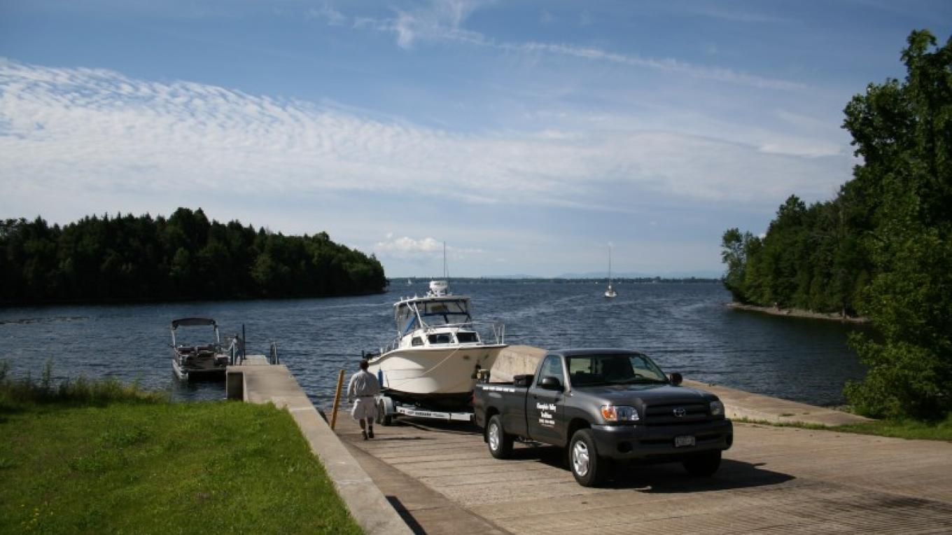 Point au Roche NYS boat launch. – Michele Powers (Adirondack Coast Visitors Bureau)