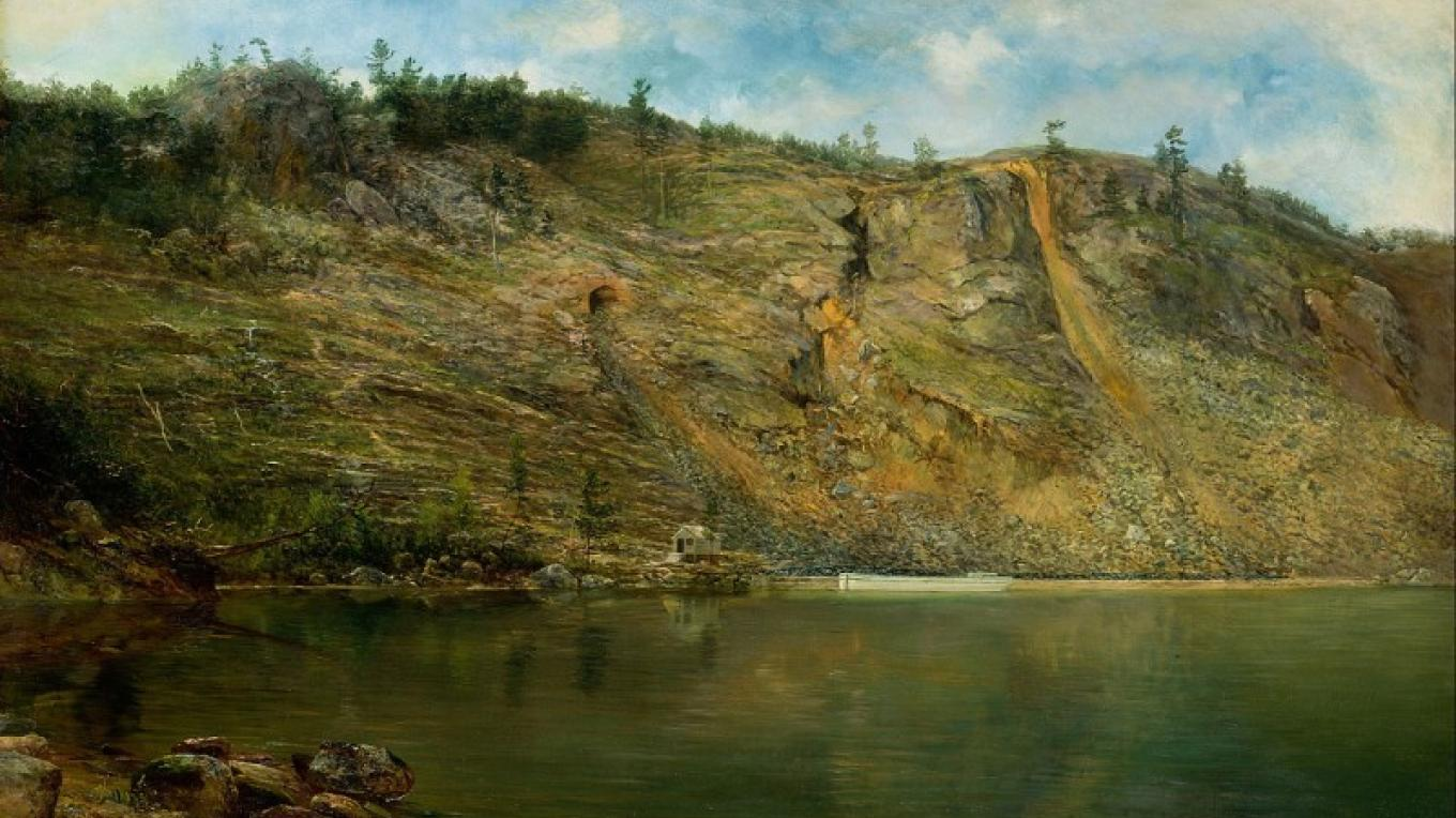 The Iron Mine by Homer Dodge Martine, 1862. – Wikipedia