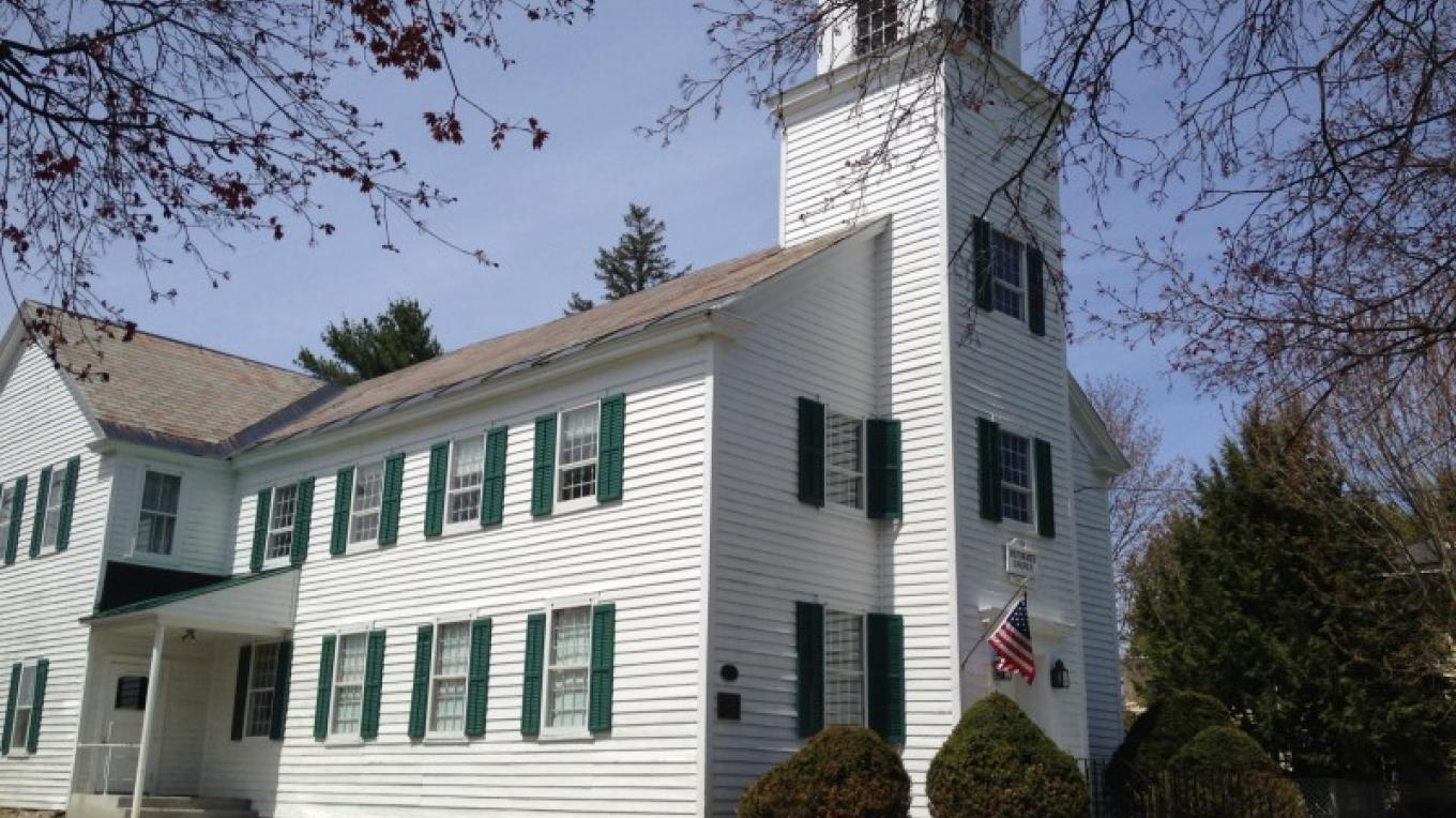The Fort Miller Reformed Church, depicted here, was constructed in 1816 and still bears the original slate roof. Archive available by appointment. – Andrew Alberti