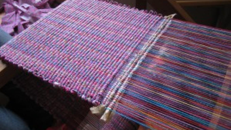 Weaving on a Floor Loom