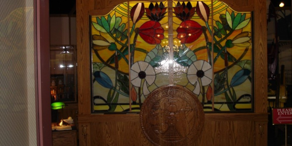 Stained Glass Entrance to the Placer County Museum – Jason Adair