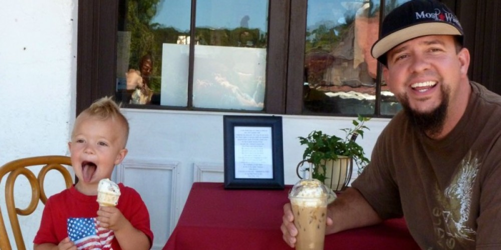 Ice cream and a cold coffee drink hits the spot! – Dale Silverman