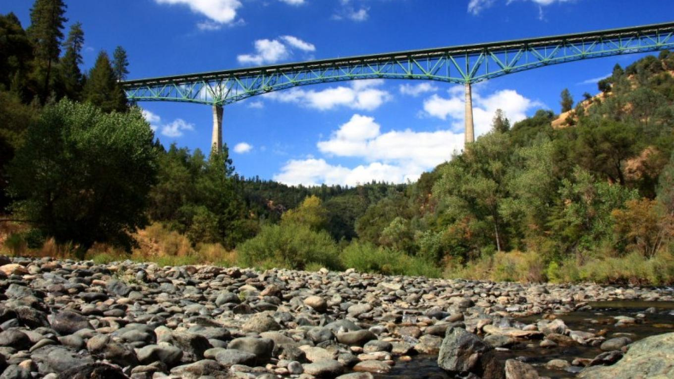 Foresthill Bridge from the American River Confluence – Darin Pointer - www.ffgphotos.com