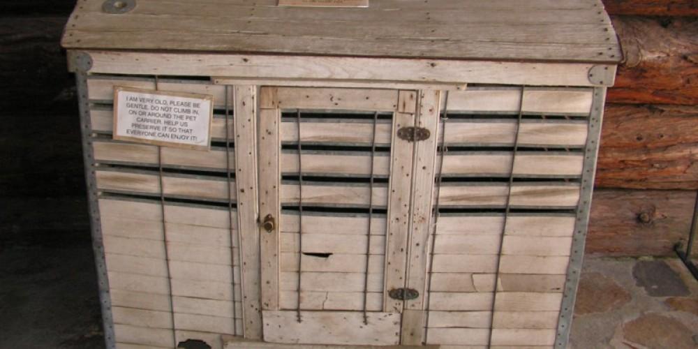 Pet carrier from 1880 – Robin Shriver