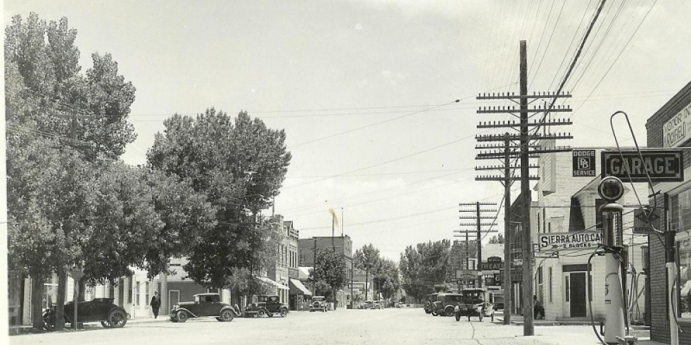 Early Gardnerville - looking south east through town – unknown