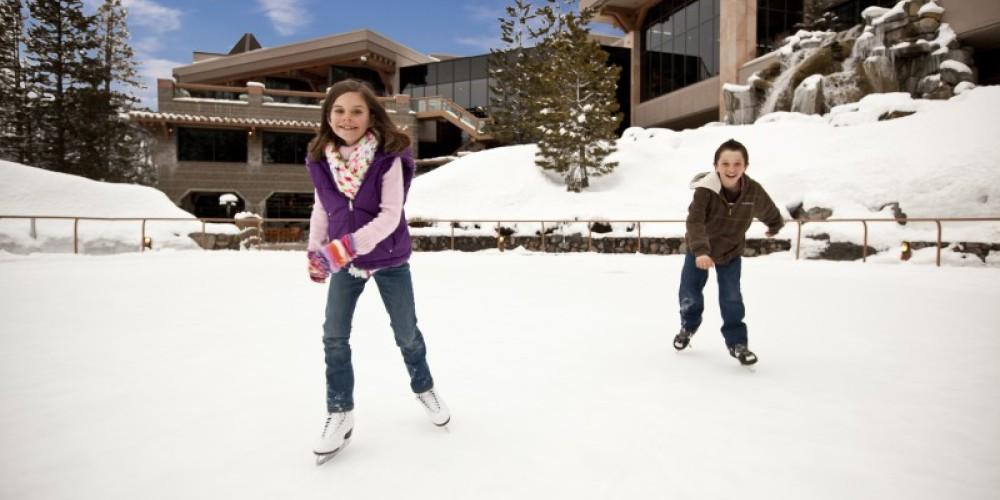Ice skating at Resort at Squaw Creek. – Tom Zikas