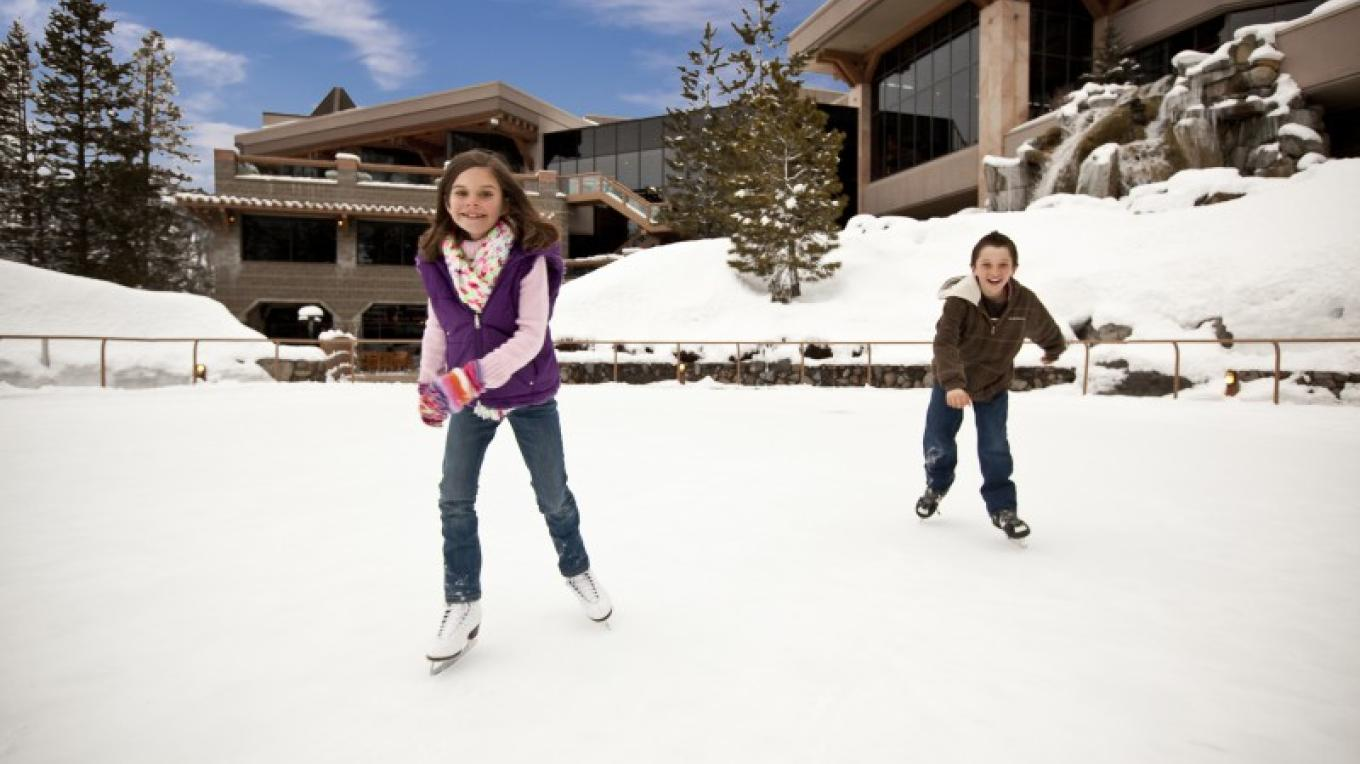 Ice skating at Resort at Squaw Creek. – Tom Zikas