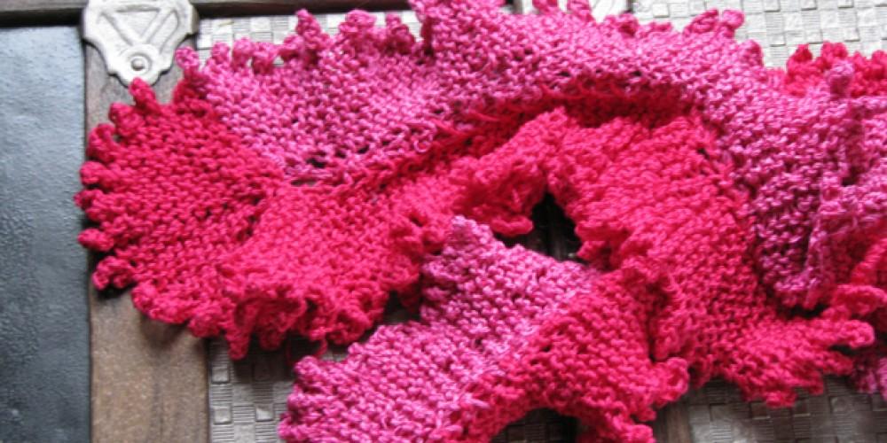 Sea lettuce scarf in Berocco Cotton Twist – Jana Botkin