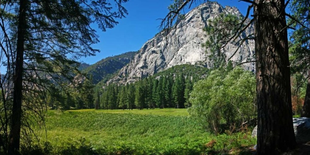 Zumwalt Meadow near Cedar Grove in the Kings Canyon offers a pleasant nature trail. – NPS/Rick Cain