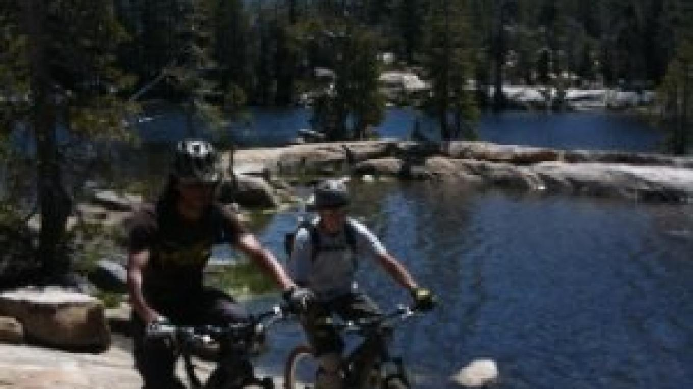 Gary Bell of Sierra Ski and Cycle Works giving a tour of Granite Lake. – www.SierraSkiandCycleWorks.com