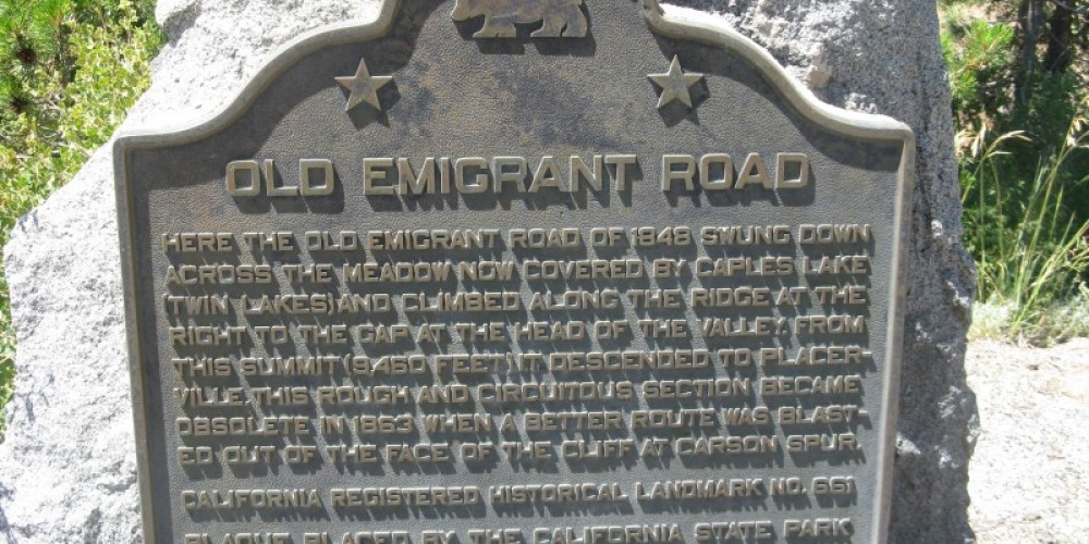 Old Emigrant Road Marker – By Syd Whittle, July 26, 2009