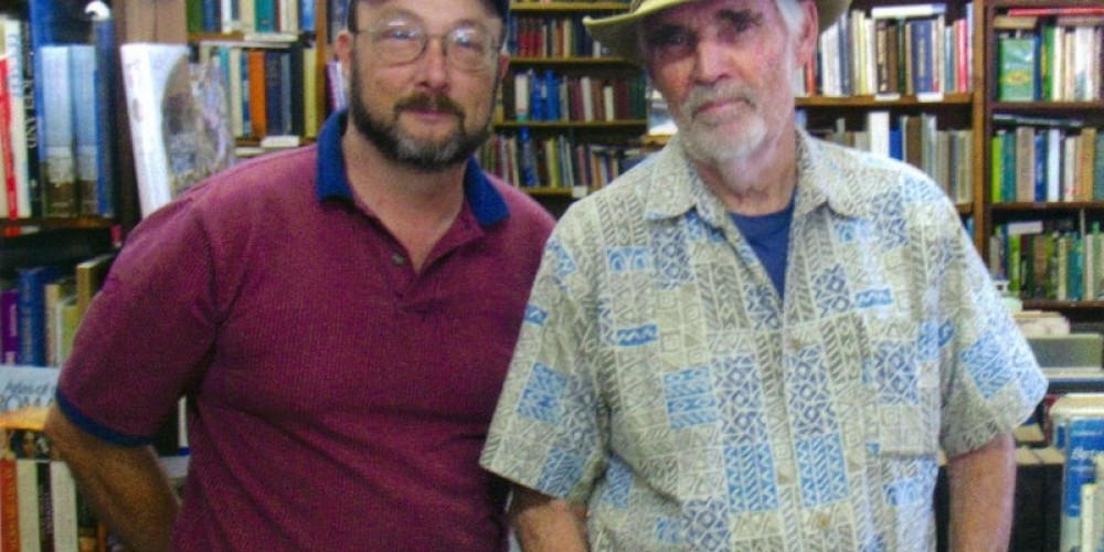 WOLF AND GEORGE, HIS 'OLD BOOK' REPAIRMAN. – LINDA HEIN
