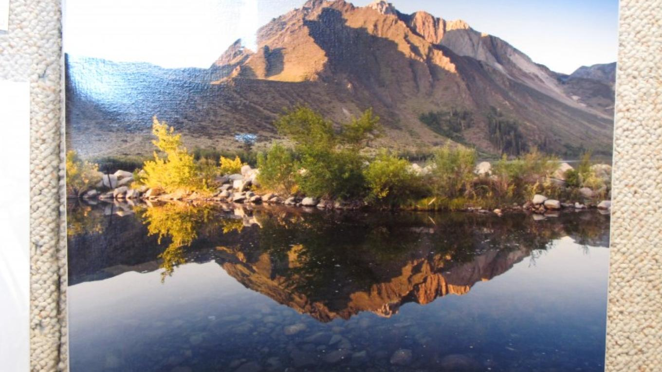 """""""Dawn at Convict Lake"""" Bob Woods Digital Photo on Canvas – Charles Topping"""
