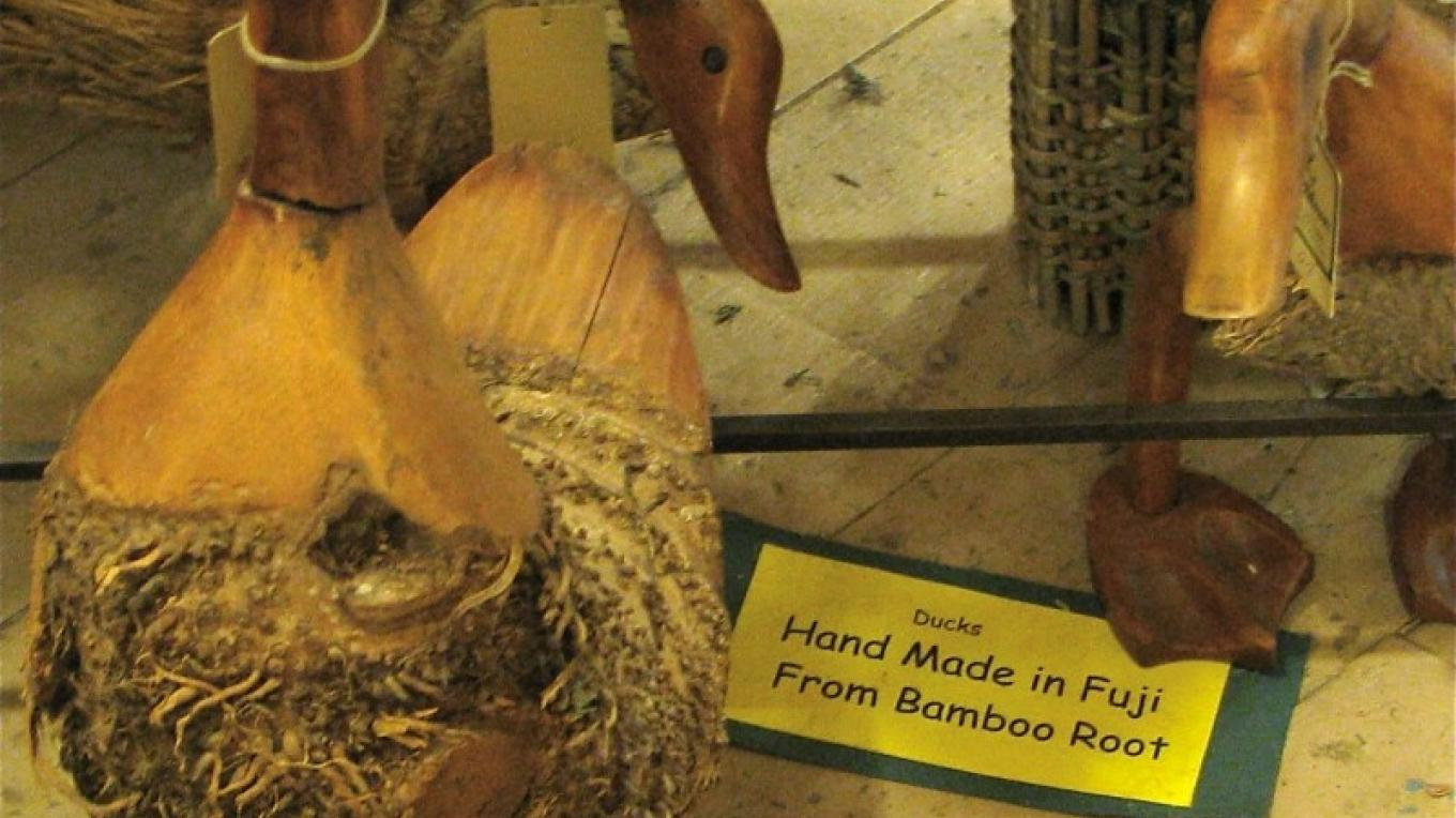 Made from bamboo root, these ducks are ecologically friendly. – Karrie Lindsay