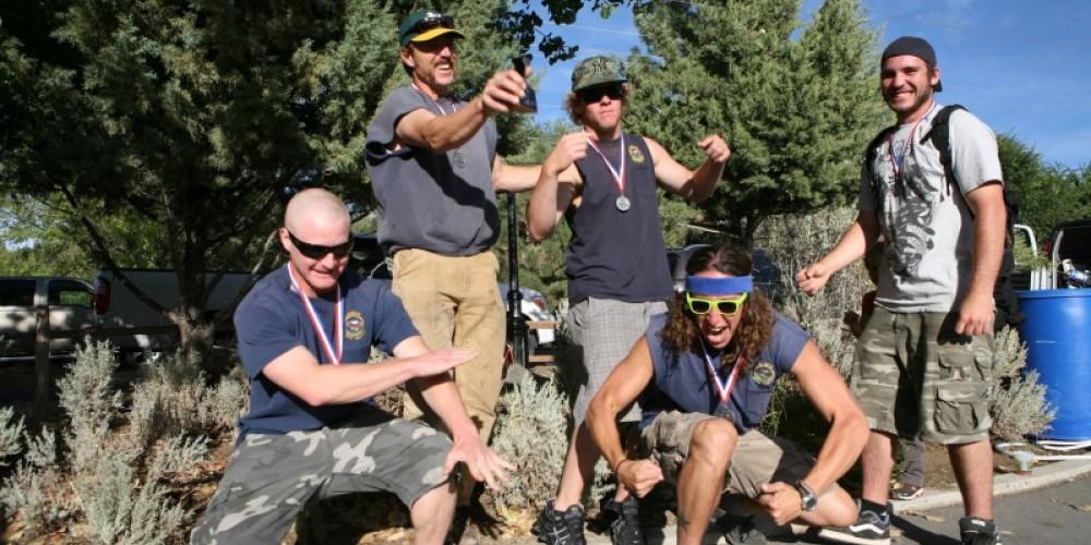 Handcar Race Winners, Lassen National Forest Hot Shots, Susanville, CA