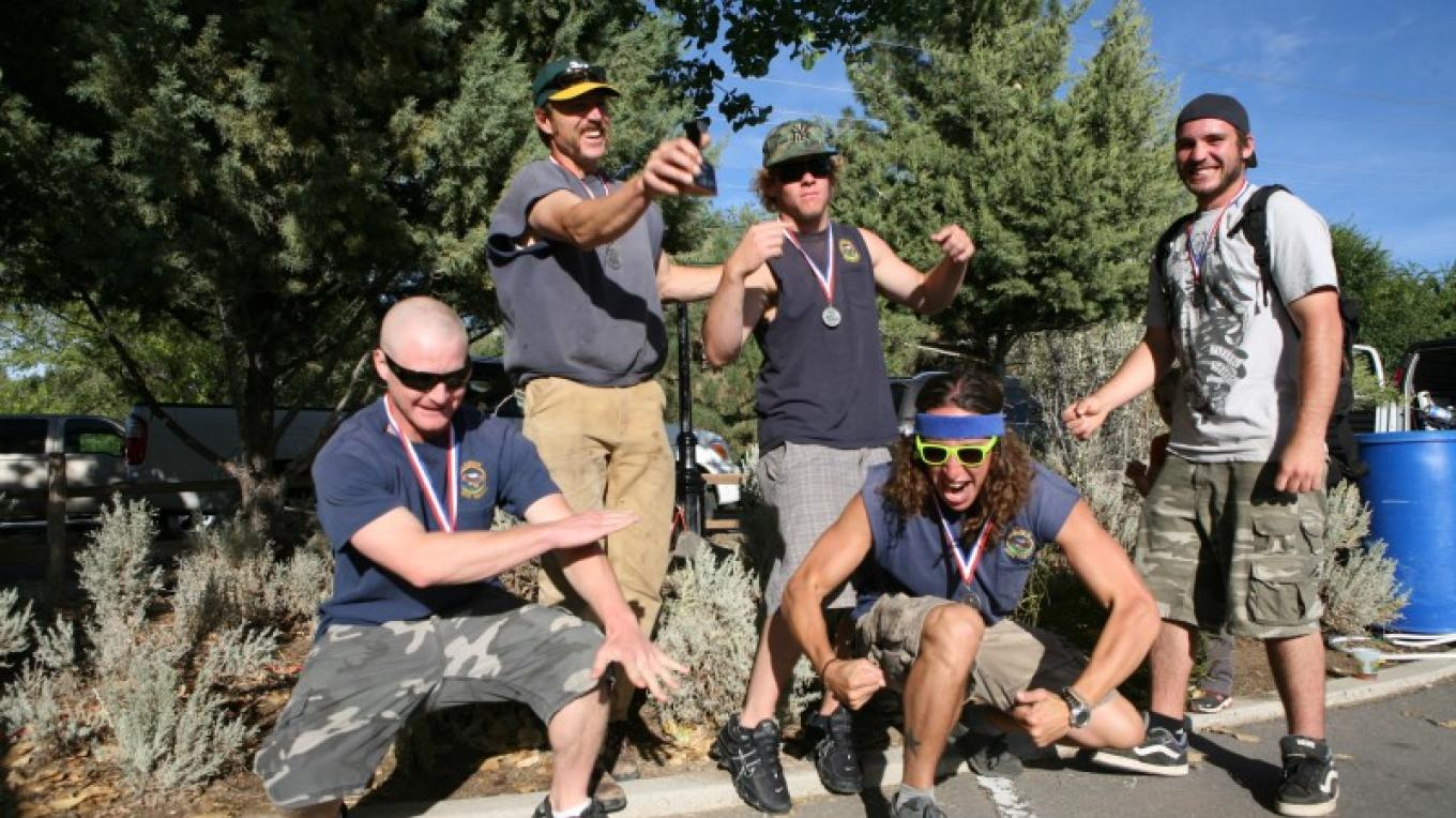 Handcar Race Winners, Lassen National Forest Hot Shots, Susanville, CA