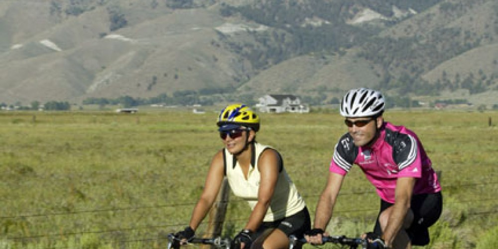 Bike riding in the Carson Valley, Nevada.