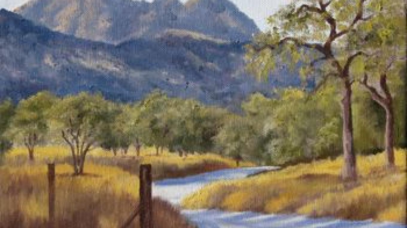 Early Morning, Late Summer - oil painting