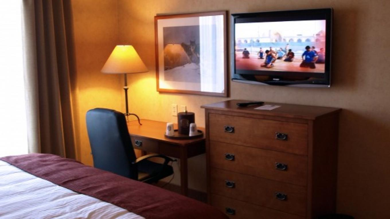 All rooms with large flat screen TVs and local cable. – Diamond Mountain Casino and Hotel
