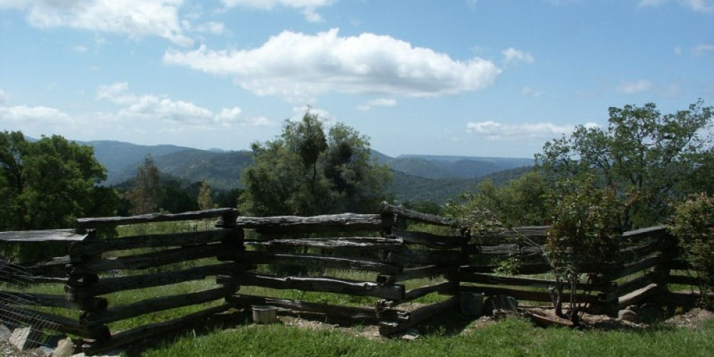 Several beauiful views of the Sierra Nevada are available from many spots at Lyn-Mar Pond Guest Ranch.